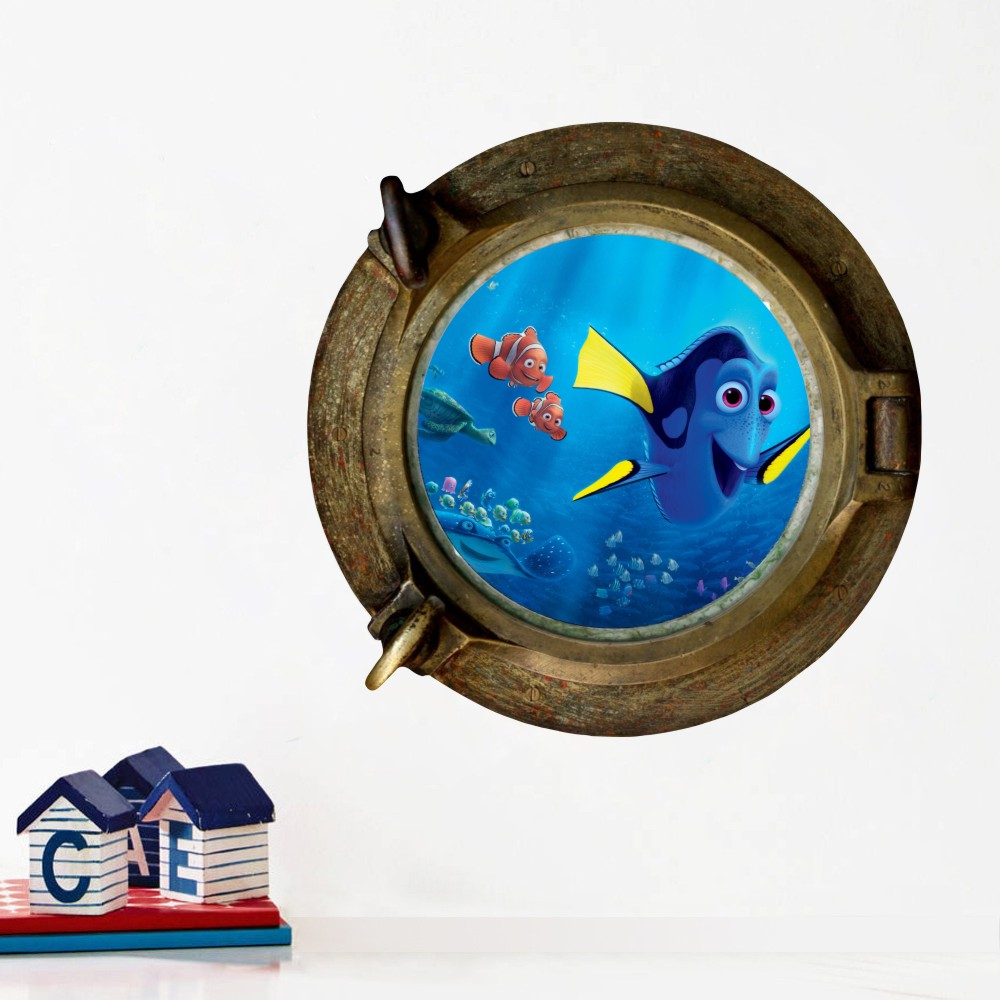Cute Dory Amp Nemo Porthole View Sticker Bathroom Decor