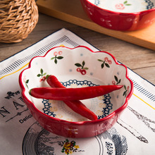 Pudding Bowl Shu Fu Lei Baking Ceramic Creative Ice Cream Cereal Breakfast Rice