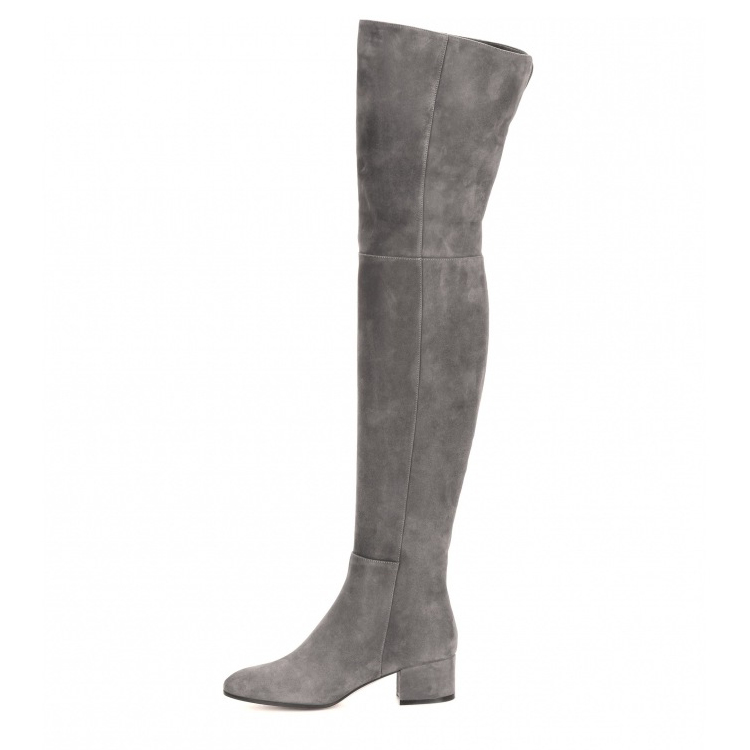 купить Newest winter Ladies shoes Suede Flat Over the Knee Thigh High Boots sapatos femininos de salto zapatos mujer tacon size 10.5 по цене 6312.73 рублей