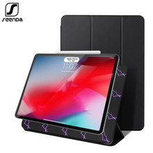 SeenDa Tablet Case For iPad Pro 11 Cover for New iPad Pro 12.9 2018 Funda Magnetic Ultra Slim Smart Cover for iPad 11 /12.9 inch(China)