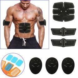 Eficaz inteligente stimulator treinamento abs aptidão engrenagem muscular cinto de tonificação abdominal trainer dispositivo 6 barriga abdome adesivos