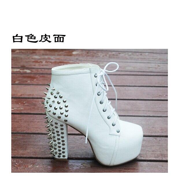 Nouveau Sapatos Haut Cm Cheville Jeffrey 2018 5 Talon Femmes Plate forme Rivet Moto Automne Femininos 12 Bottes Chaussures Mode DH2E9IYW