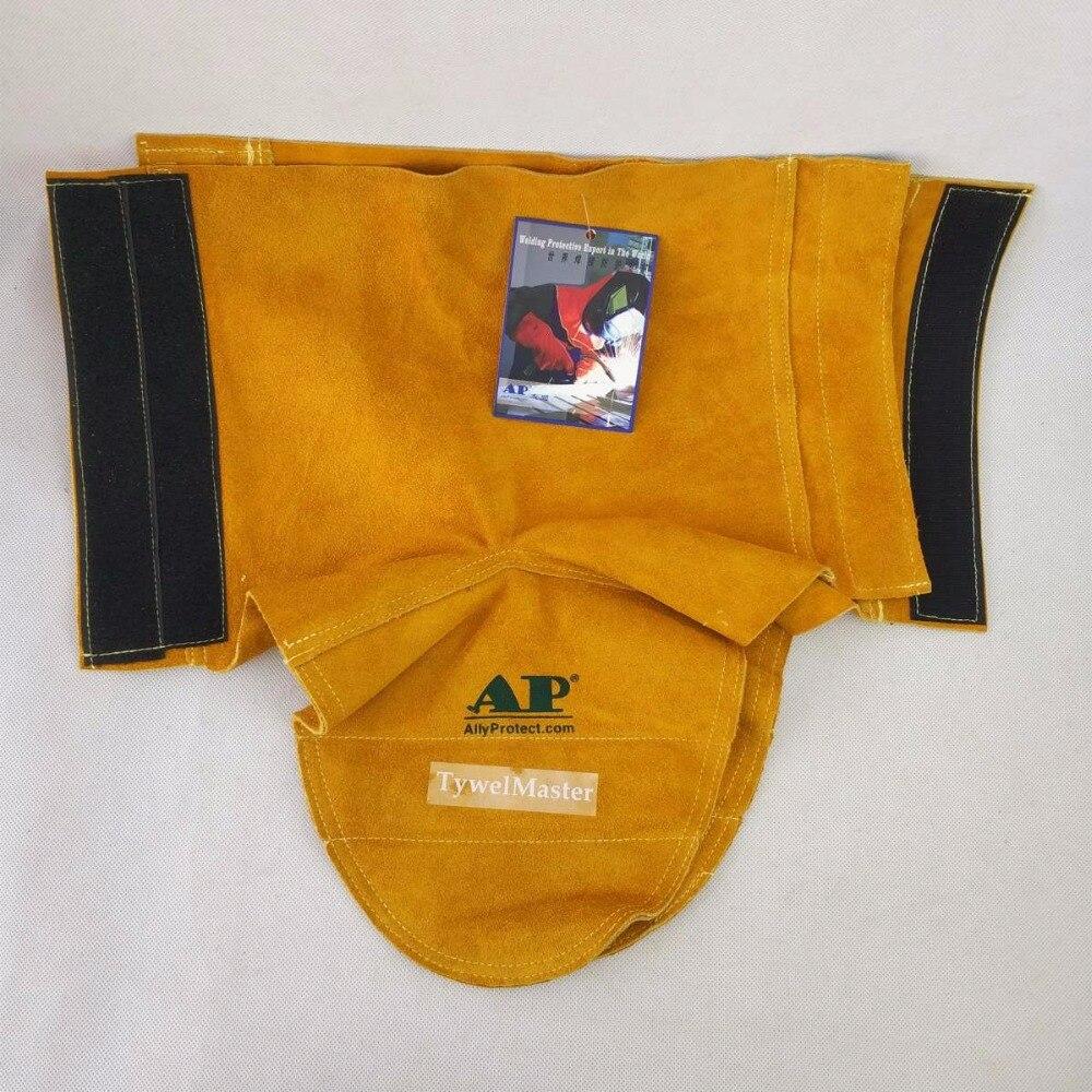 Купить с кэшбэком Welding Gaiter Flame/Heat/Abrasion Resistant Cowhide Leather Working Shoe Cover Protector Leather Welding Spats