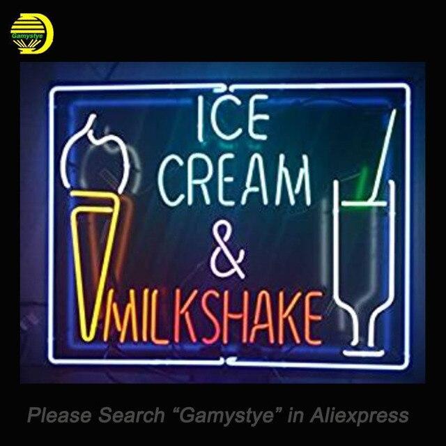 Neon sign ice cream milkshake handmade neon bulb sign beer bar neon sign ice cream milkshake handmade neon bulb sign beer bar neon wall sign real glass aloadofball Gallery