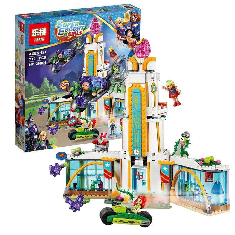 ФОТО Lepin 29001 712Pcs The Marvel Avengers Super Heroes High School Set Girl Series Children Educational Building Blocks Brick Toys