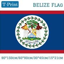 где купить Free shipping Belize 15*21cm 90*150cm 60*90cm 30*45cm Car Flag National Flag 3x5ft Digital Print Brass Grommets по лучшей цене