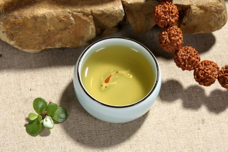 6pcs China Kung Fu cup Ceramics Longquan celadon Tea set Fish Tea cup Tea Ru Small