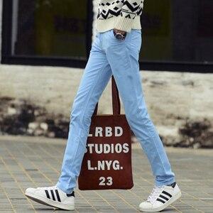 Image 5 - Männlichen Sommer Mode Kleid Hosen männer Koreanischen Stil Dünne Beiläufige Lange Länge Pantalon Homme Männer Slim Fit Anzug Hosen Weiß hosen