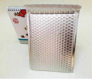 25*30cm Large Sliver Wrap Glitter Metallic Bubble Mailer Bag Gift Bag Aluminum Foil Seals Bubble Envelope Gift Bag
