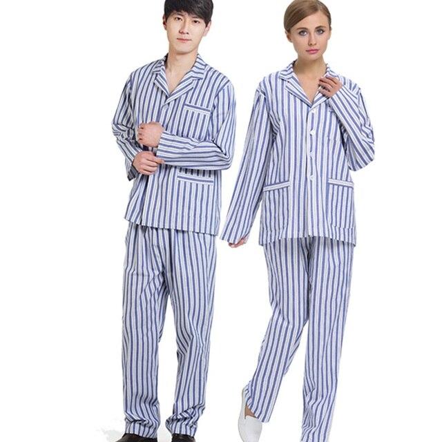 Wholesale Women Men Pajamas Set Long Sleeved Stripe Spring Autumn Sleepwear Unisex Casual Homewear Couples Lounge Wear