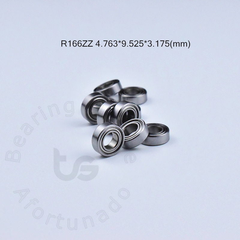 R166ZZ 4.763*9.525*3.175(mm)  Free Shipping Bearing ABEC-5 10pcs Miniature Mini Bearing Chrome Steel Bearing R166 R166ZZ