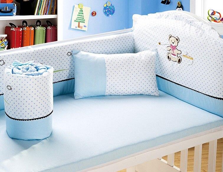 discount 6pcs cotton baby bedding set baby bedclothes cot bed sheet cartoon crib bedding set. Black Bedroom Furniture Sets. Home Design Ideas