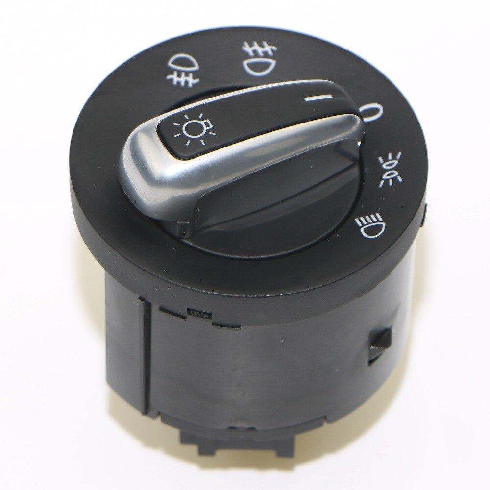Nouveau Chrome Phares Commutateur de Commande de lumière Pour VW Caddy Tiguan Touran Golf MK6 Jetta MK5 VW Passat B6 3C 5ND 941 431 Un 5ND941431A