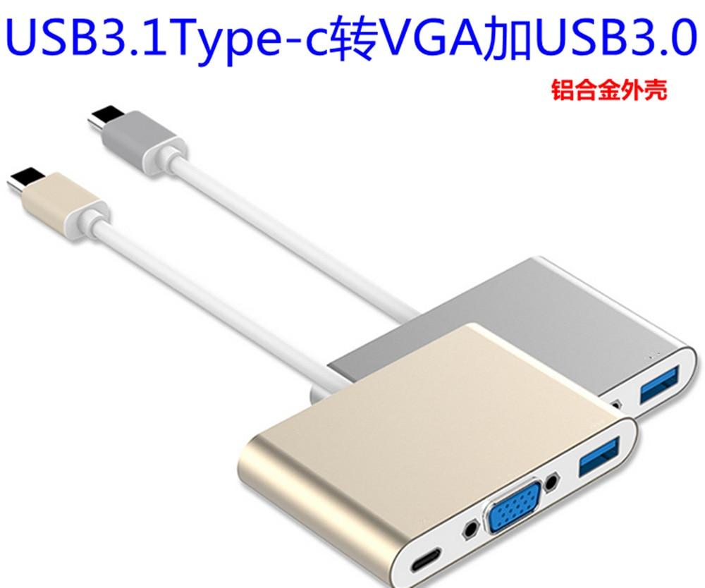 USB 3.1 Type - C to VGA usb3.1 for VGA hd triad conversion line