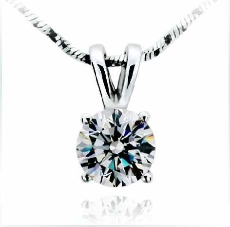 2 Carat  Brilliant Round Cut SONA Synthetic Diamonds Engagement Pendant Necklace Best Bridal Wedding Jewelry