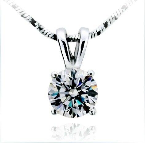 2 قيراط بريليانت جولة قص sona الاصطناعية الماس المشاركة قلادة قلادة أفضل مجوهرات الزفاف-في المعلقات من الإكسسوارات والجواهر على  مجموعة 1