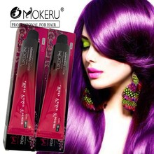 Mokeru 1pc Professional use colour cream grey silver purple hair color dye cream natural hair dye permanent paint for hair
