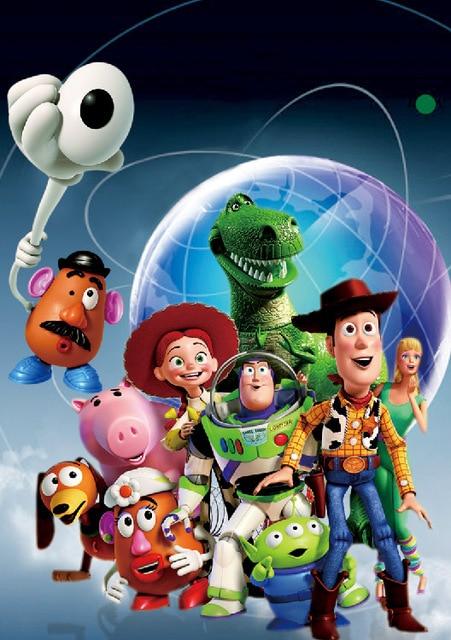 5x7FT Buzz Lightyear Jessie Woody Toy Story Blue Globe Rex