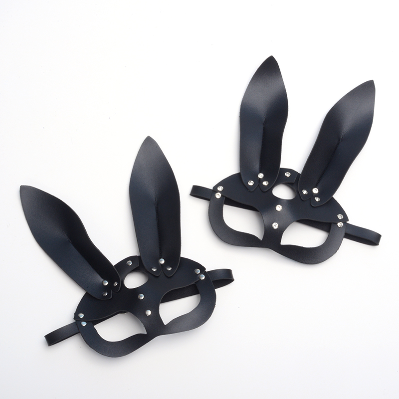 Image 4 - Sexy Cosplay Rabbit Bunny Masks Women Girl Black Leather 