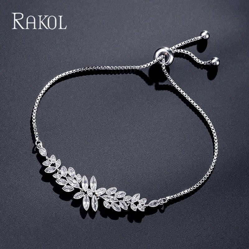 927ee0b8e41c RAKOL Higth calidad cúbicos Zircon agua gota cuelga los pendientes y collar  pulseras Cristal de lujo