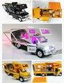 Прохладный 1:32 DIY RV Автомобилей Модели Игрушки акустооптическая рекреационных автомобилей караван гастроли автобус звук и свет и тянуть назад автомобиль с мебелью