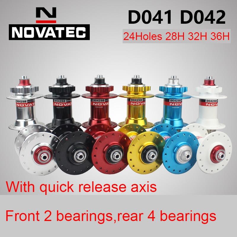 Novatec douille entretoise moyeu vélo D041SB D042SB vélo vtt moyeu VTT avant/arrière 32 36 H trou Cassette roue libre frein à disque