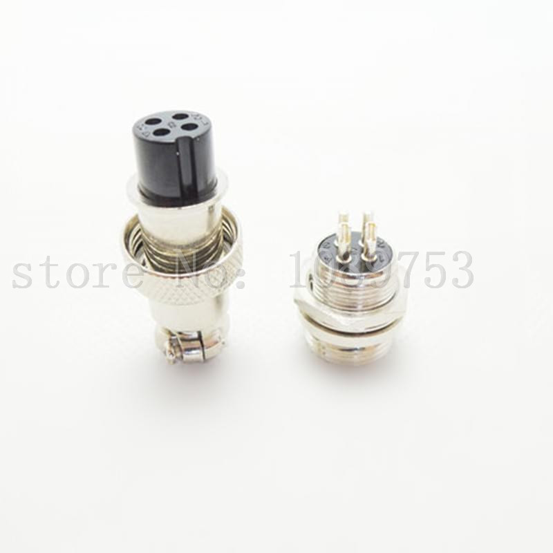 10Pair Aviation Plug GX12 12mm 4Pin Male + Female Panel Metal Thread RS765 Connector metal gx12 4 4pin male 12mm screw type cable panel connector aviation plug