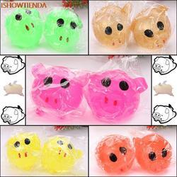 1 шт. анти-стресс декомпрессии Splat мяч надувная игрушка Smash различные стили свинья игрушки Squeeze Игрушка снятие стресса мягкими Прямая