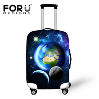 FORUDESIGNS Cool Galaxy Earth Suitcase Protective Covers Elastic Dust Cover For 18 28 Trolley Luggage Travel