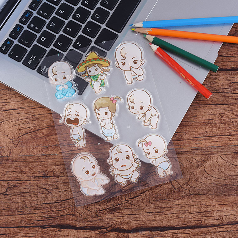 Baby New Born Silicon Clear Rubber Stamps Seal Scrap booking Cards Stamp DIY Diary Photo Album Paper Card Notebook Craft Decor