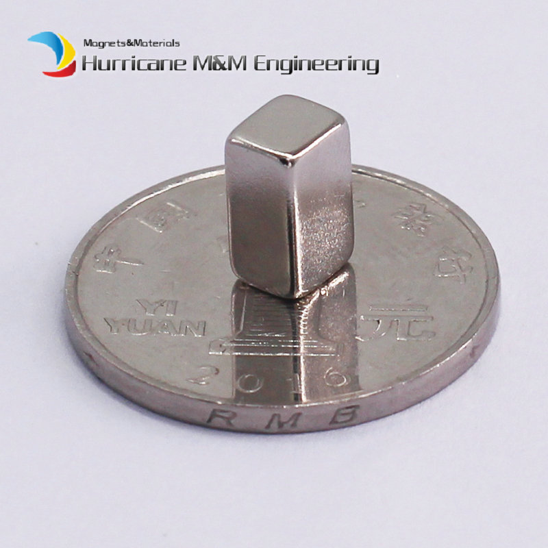 1 Pack NdFeB Block 10x6x5 (+/-0.1)mm Small Cube Magnet Bar Strong Neodymium Permanent Magnets Rare Earth Lifting Magnets N42 ndfeb magnet block 40x25x10 mm super strong magnet neodymium permanent magnets rare earth magnets grade n42 nicuni plated
