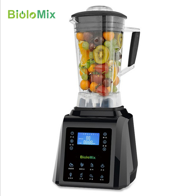 Digital TouchPad Timer 3HP BPA FREE automatical professional smoothies power blender food heavy duty smart program mixer juicer