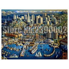 DIY Diamond painting San Francisco Full square embroidery Cross Stitch City landscape Rhinestone Mosaic Christmas gifts