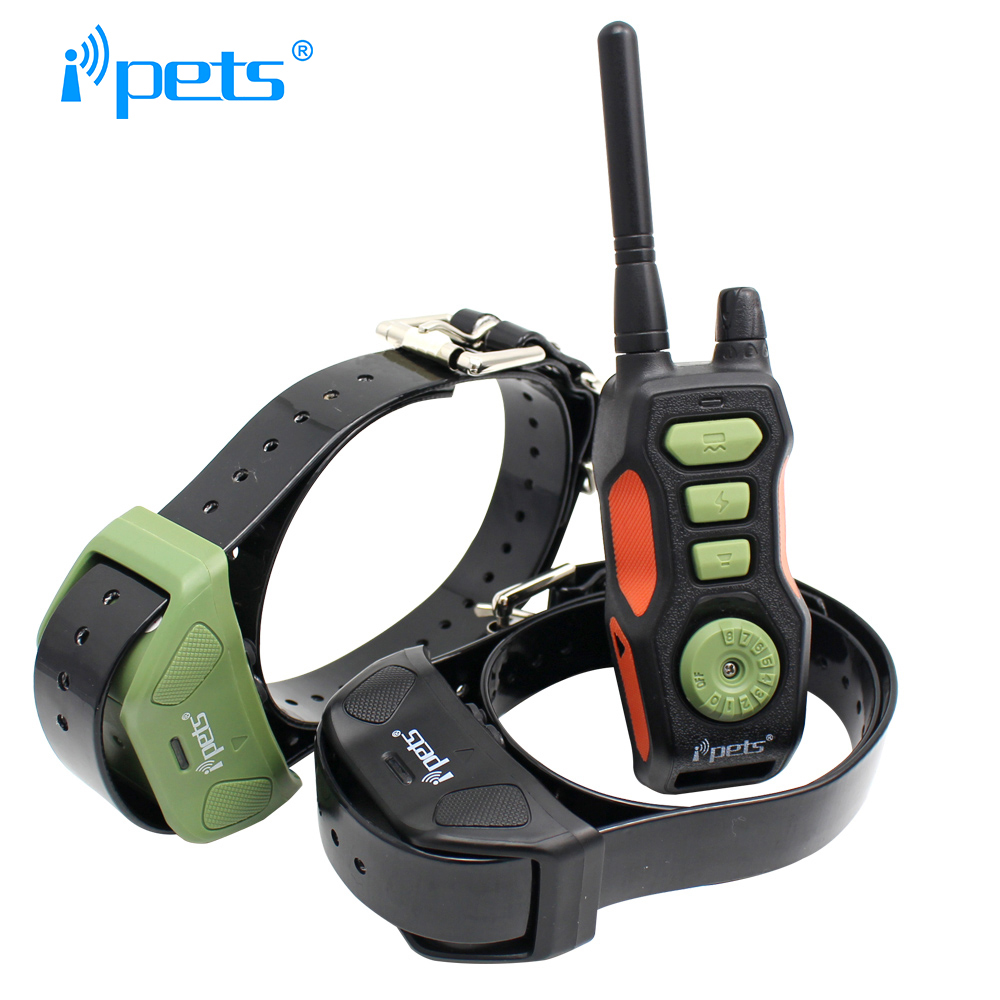 Ipets 618 2 New Electric shock remote collar dog accessories Waterproof and rechargeable
