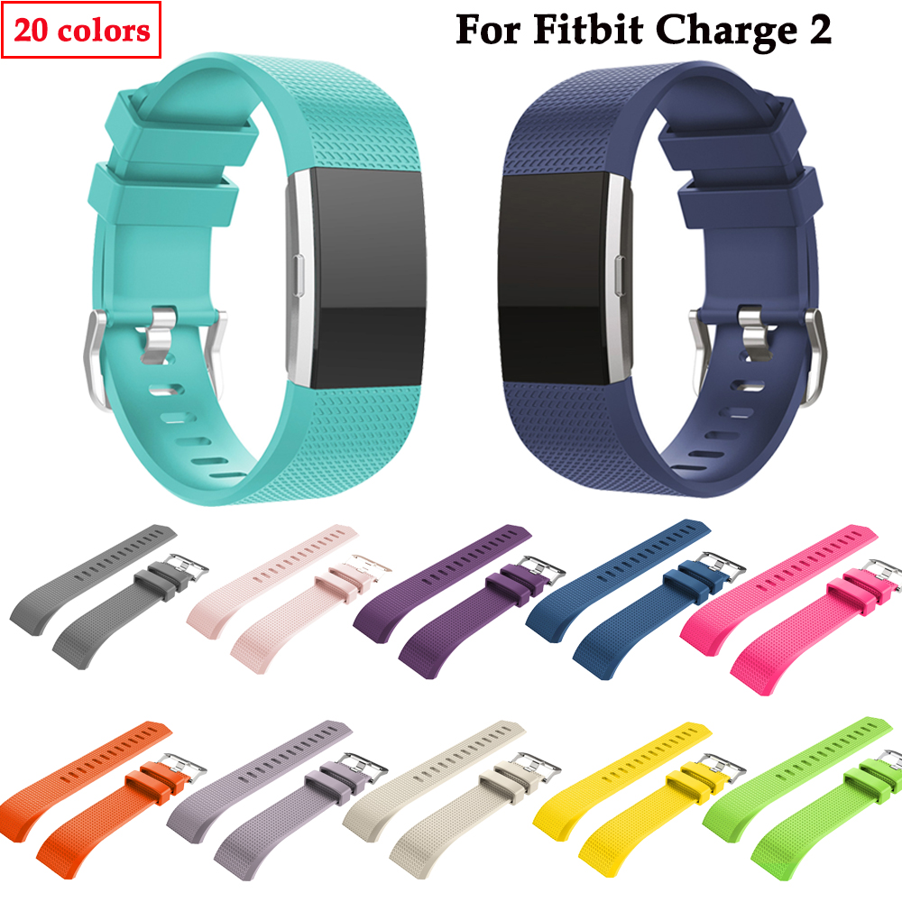 silicone watch band For Charge 2 watch Replacement sport silicone strap Wristband bracelet For Charge 2 smart watch Accessoriess