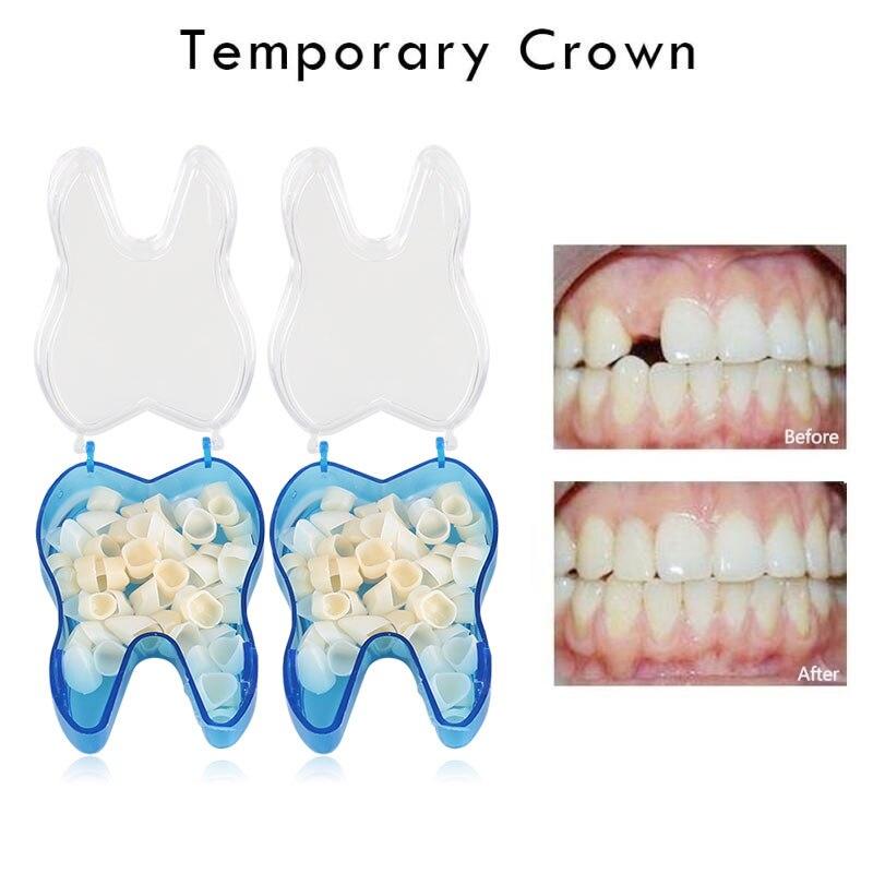 50 Pcs Dental Corone 25 Pcs Teeth Anteriore + 25 Pcs Posteriore Dentista Dental Materiali Strumenti di Odontoiatria Attrezzature