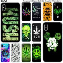 Fashion-Case Apple iPhone High-Weed Silicone Luxury 6s-Plus Art for 11 Pro XS MAX Xr-x-7/8-plus/6/..