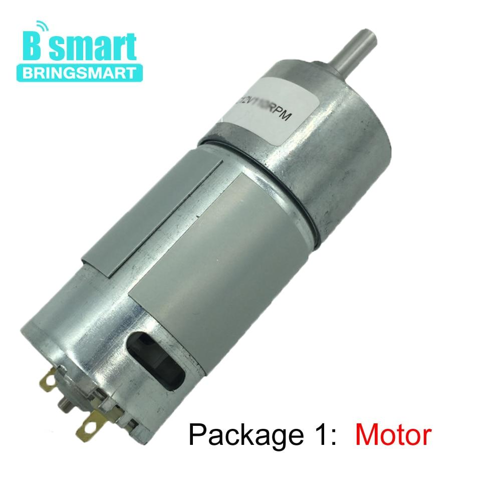 цена на Bringsmart JGB37-550 DC Geared Motor 12V 6V Mini Reducer Reversed Electric Gear Motor High Torque Small DC Volt Machine Package