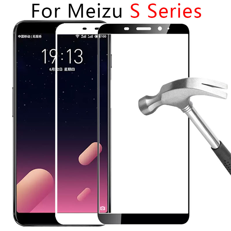 Case On Maisie M6s M5s M3s Full Cover For Meizu S6 S5 S3 M 6S 5S 3S M6 M5 M3 S Tempered Glass Screen Protector Safety Tremp Film image