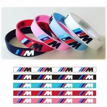 Спортивный браслет M Power для BMW, 100 шт., силиконовый браслет для биммеров, светящаяся голограмма, резиновый браслет, все серии подарков