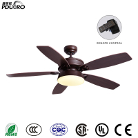Vintage Ceiling Fan With Lights Remote Control Ventilador De Techo 220Volt Bedroom Ceiling Light Fan Lamp E27 Bulbs