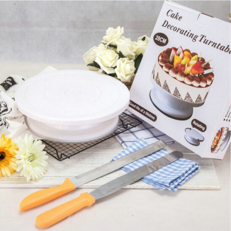 HQ SS10 Cake Making and Decorating Turntable Baking Tool Rotating Table of Cake Show Display Stand