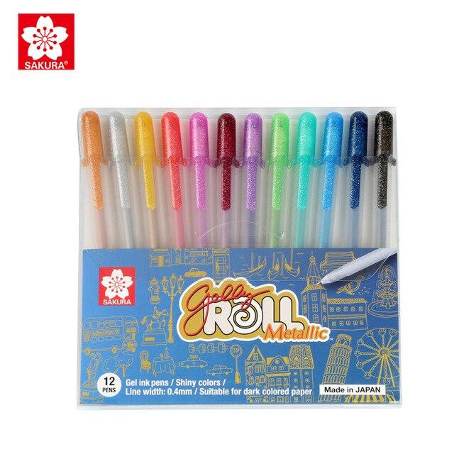 사쿠라 젤리 롤 펜 3d 장식 미술 마커 64 색 파인 팁 쓰기 종이 사진에 그리기 유리 플라스틱 도자기 cd