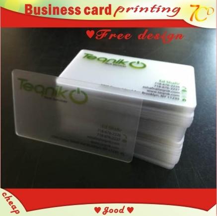 Custom business card printing pvc transparent semi clear custom business card printing pvc transparent semi clear translucent see through name staff card colourmoves