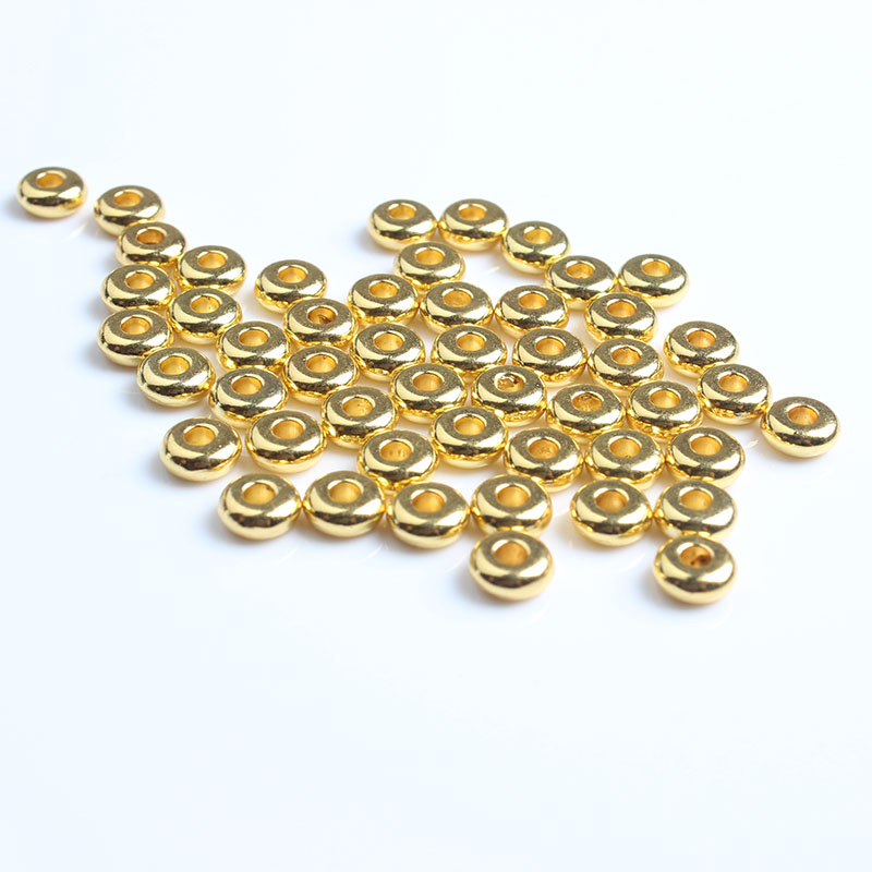 LanLi 6mm 100pcs 5mm 160pcs Every bead gasket DIY men and women bracelet necklace ankle Accessories in Jewelry Findings Components from Jewelry Accessories
