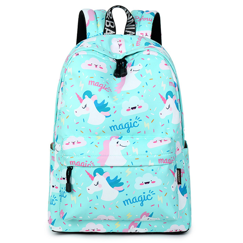 Women Backpack Unicorn School Printing Backpack Bookbag Cute School Bags for Teenage Girls Travel Softback Kawaii Mochila runningtiger women backpack eiffel tower printing backpack casual school bags for teenage girls travel backpack female mochila