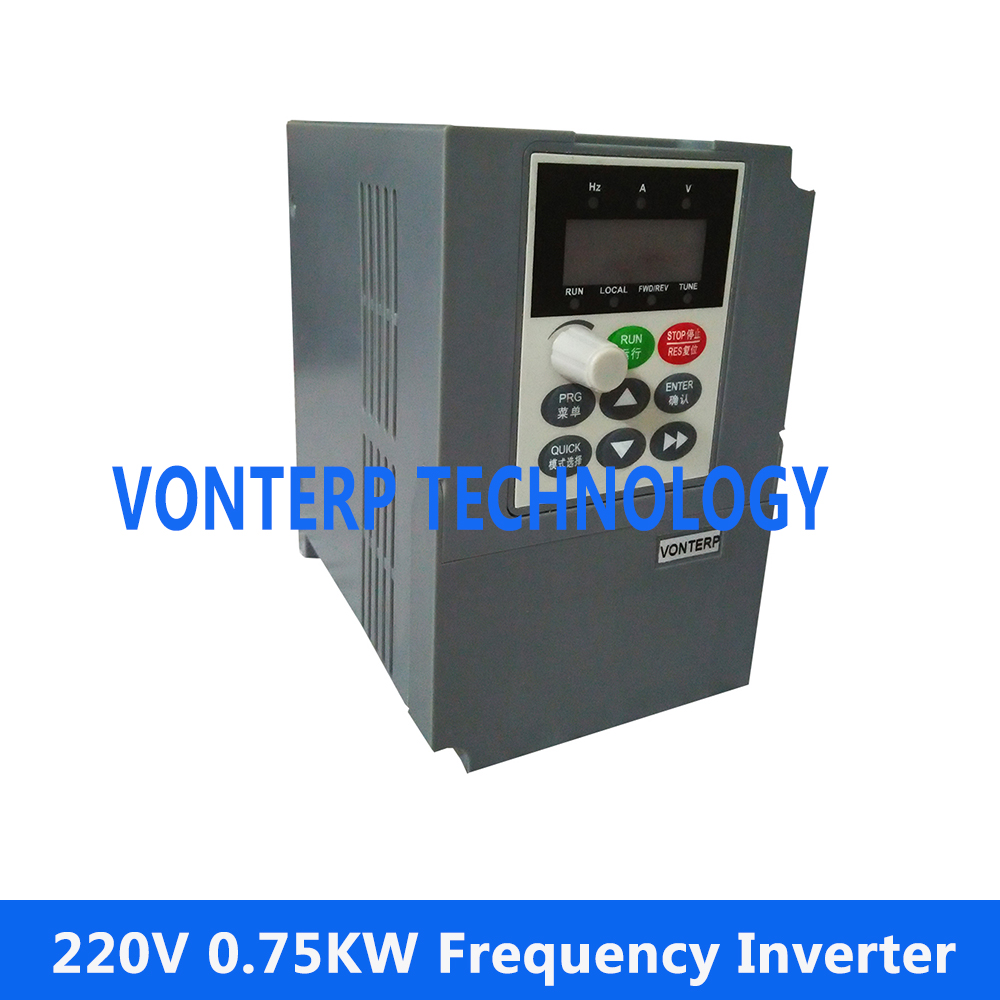 Vector Control frequency converter 220V single phase to 220V three phase 220v 0.75kw vector control frequency converter 220v single phase to 220v three phase 220v 0 75kw