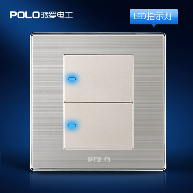 Wholesale POLO Luxury Wall Switch Panel, Light Switch,2 Gang 2 Way ...