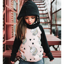 Children Sweater Unicorn Printed Hooded Cotton Kids Boys T-Shirts Kids Hoodie Clothes Enfant Outerwear Clothing T Shirts Sweater
