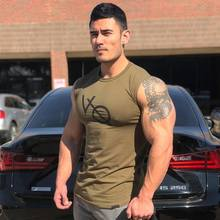 New Cotton Good quality T Shirt Men Breathable T-Shirt Homme Gyms Fitness Summer Printing male Casual fashion Brand tees top